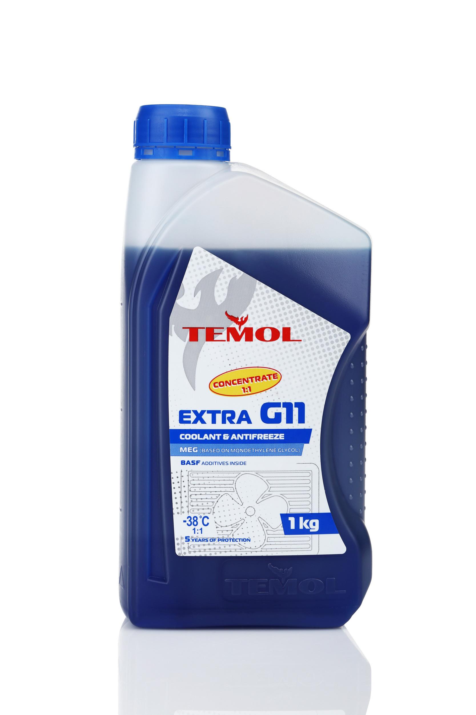 TEMOL ANTIFREEZE EXTRA CONCENTRATE G11 BLUE - 1L - Temol, официальный интернет-магазин