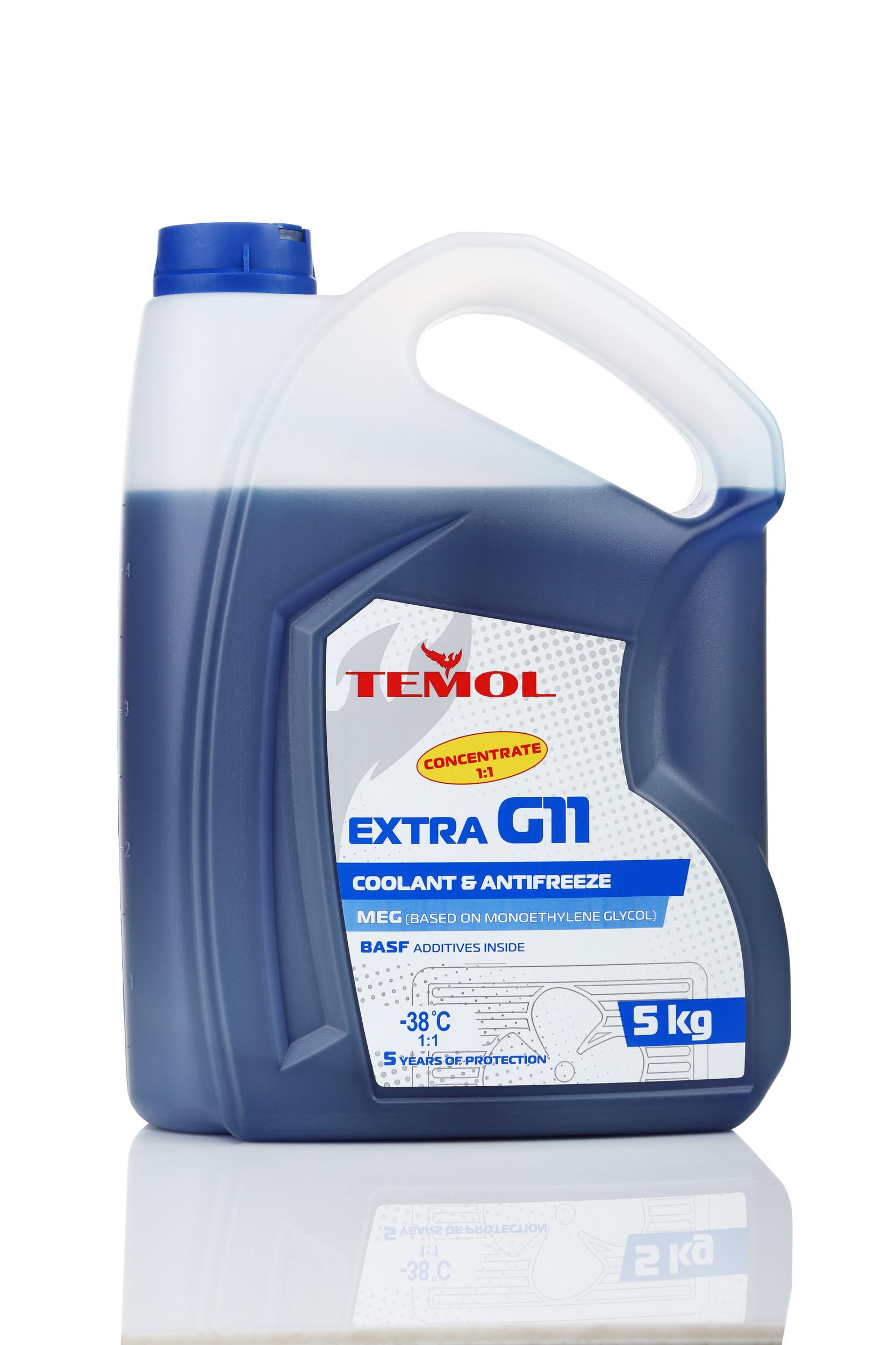 TEMOL ANTIFREEZE EXTRA CONCENTRATE G11 BLUE - 5L - Temol, официальный интернет-магазин