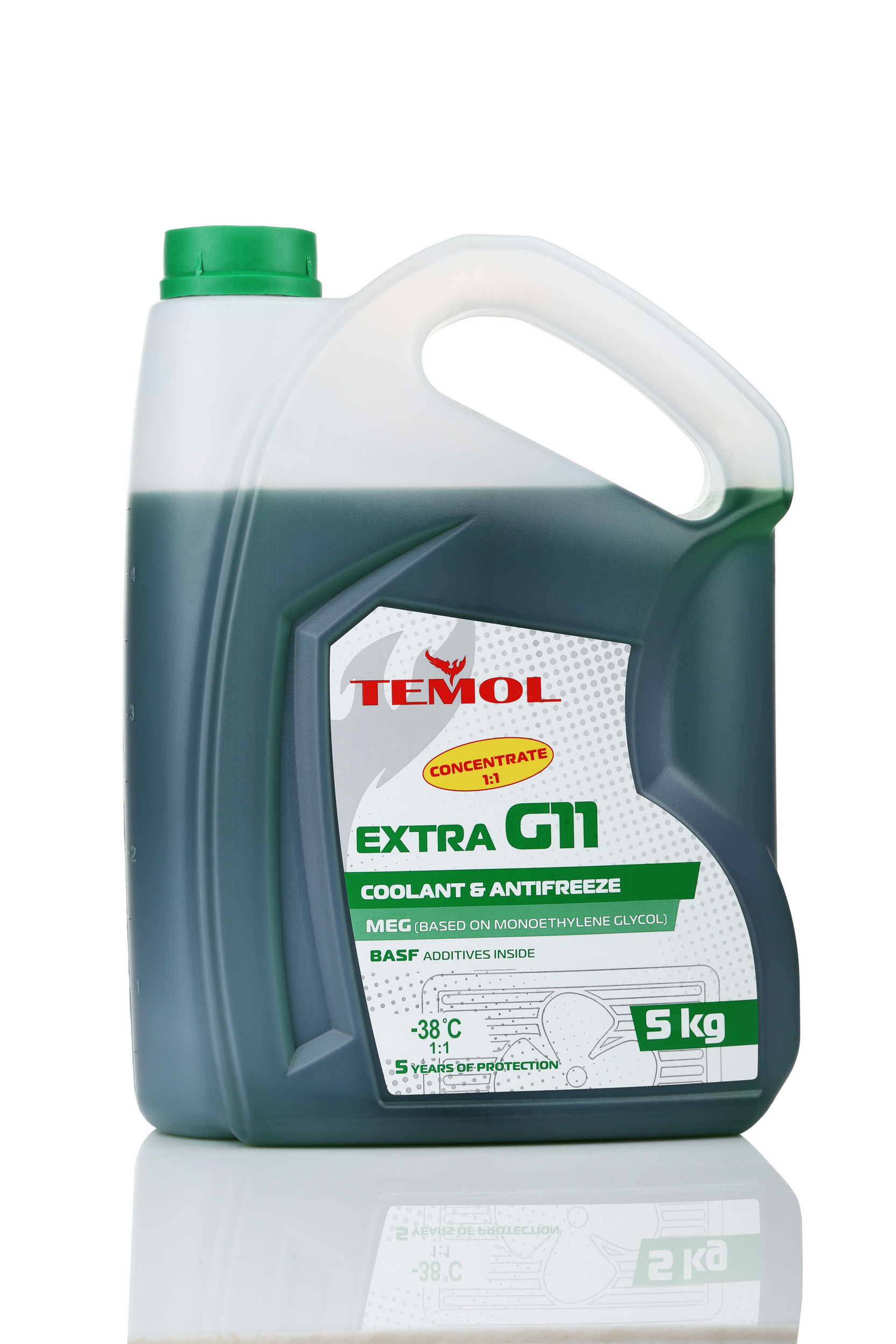 TEMOL ANTIFREEZE EXTRA CONCENTRATE G11 GREEN - 5L - Temol, официальный интернет-магазин