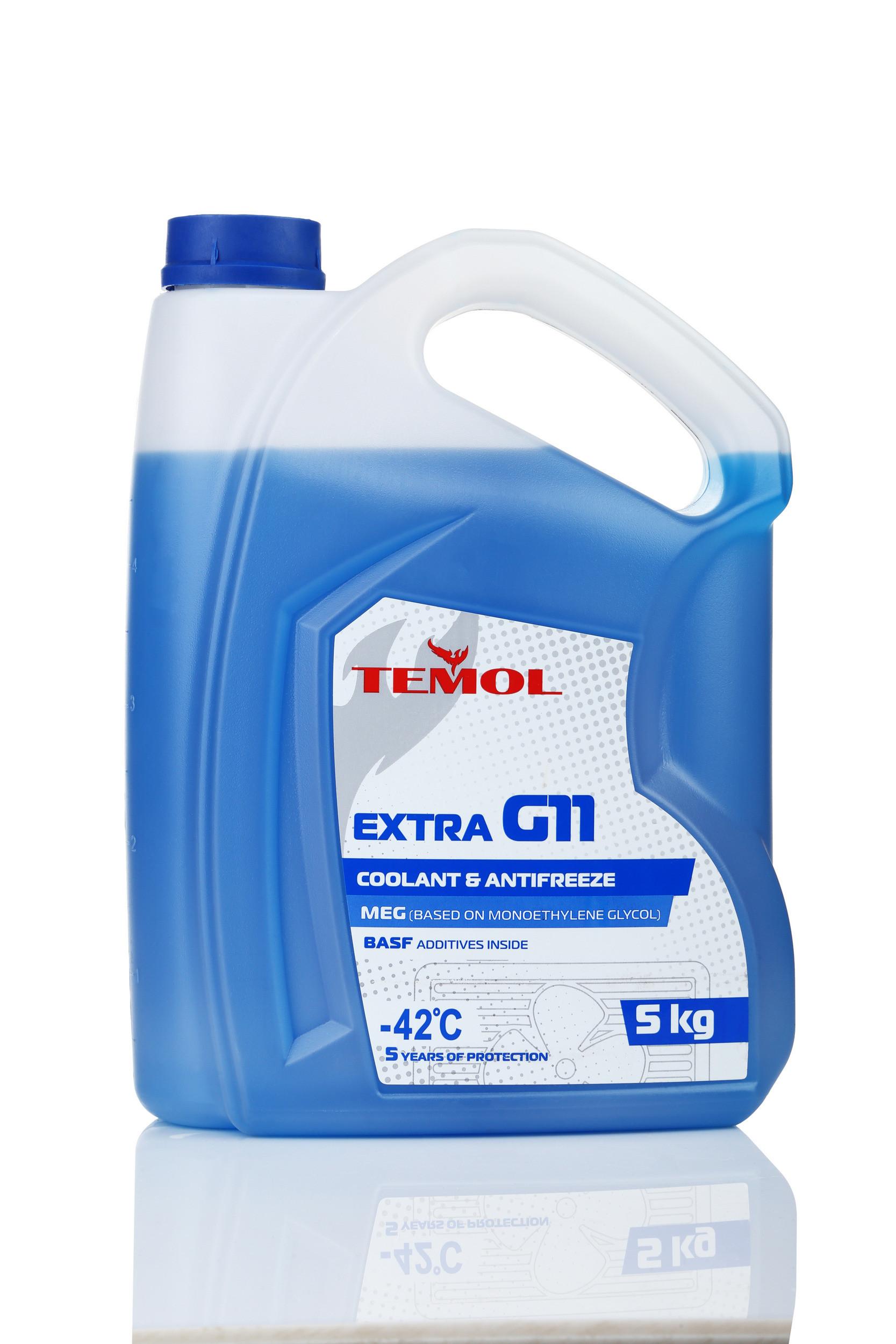 TEMOL ANTIFREEZE EXTRA G11 BLUE - 5L - Temol, официальный интернет-магазин