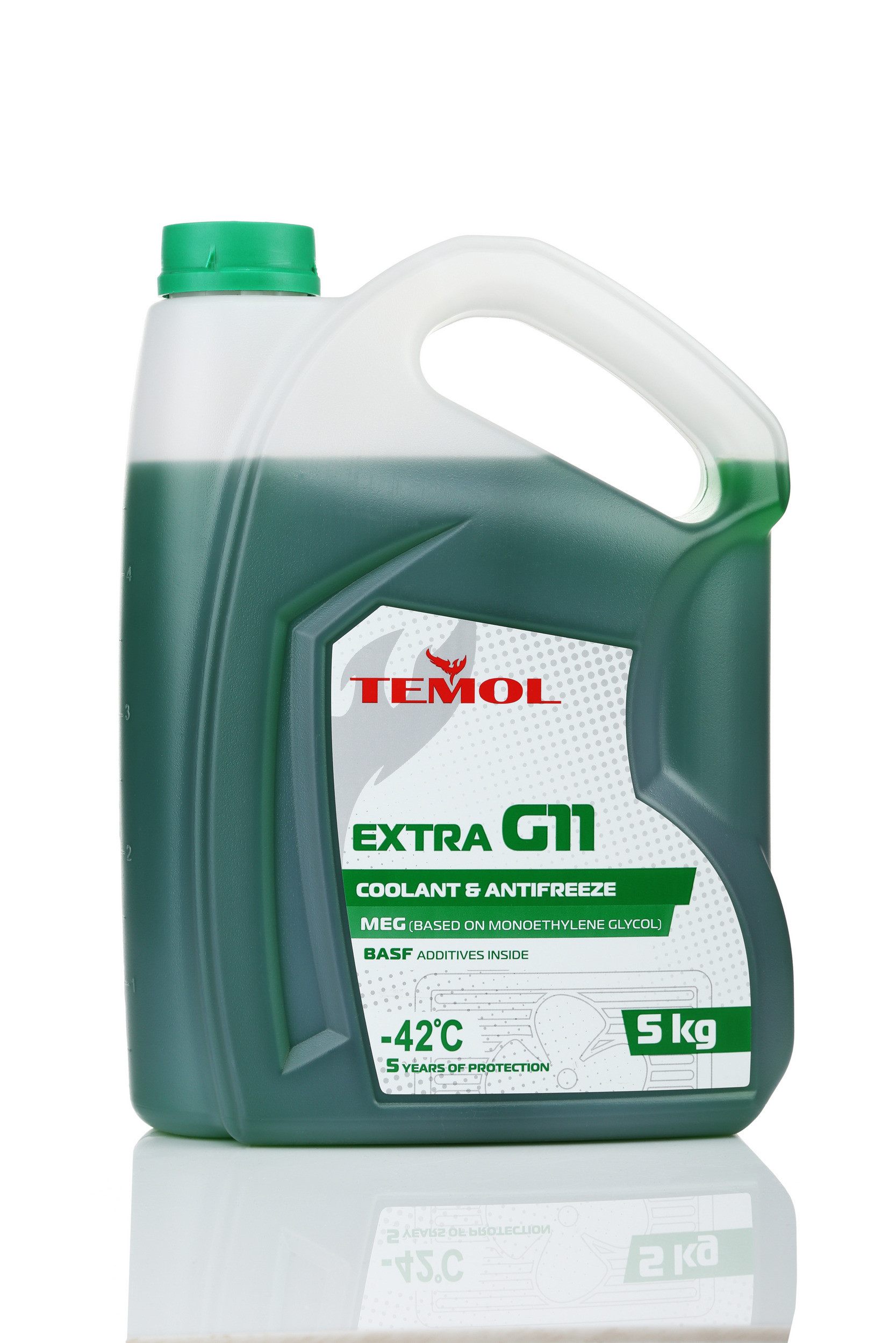 TEMOL ANTIFREEZE EXTRA G11 GREEN - 5L - Temol, официальный интернет-магазин