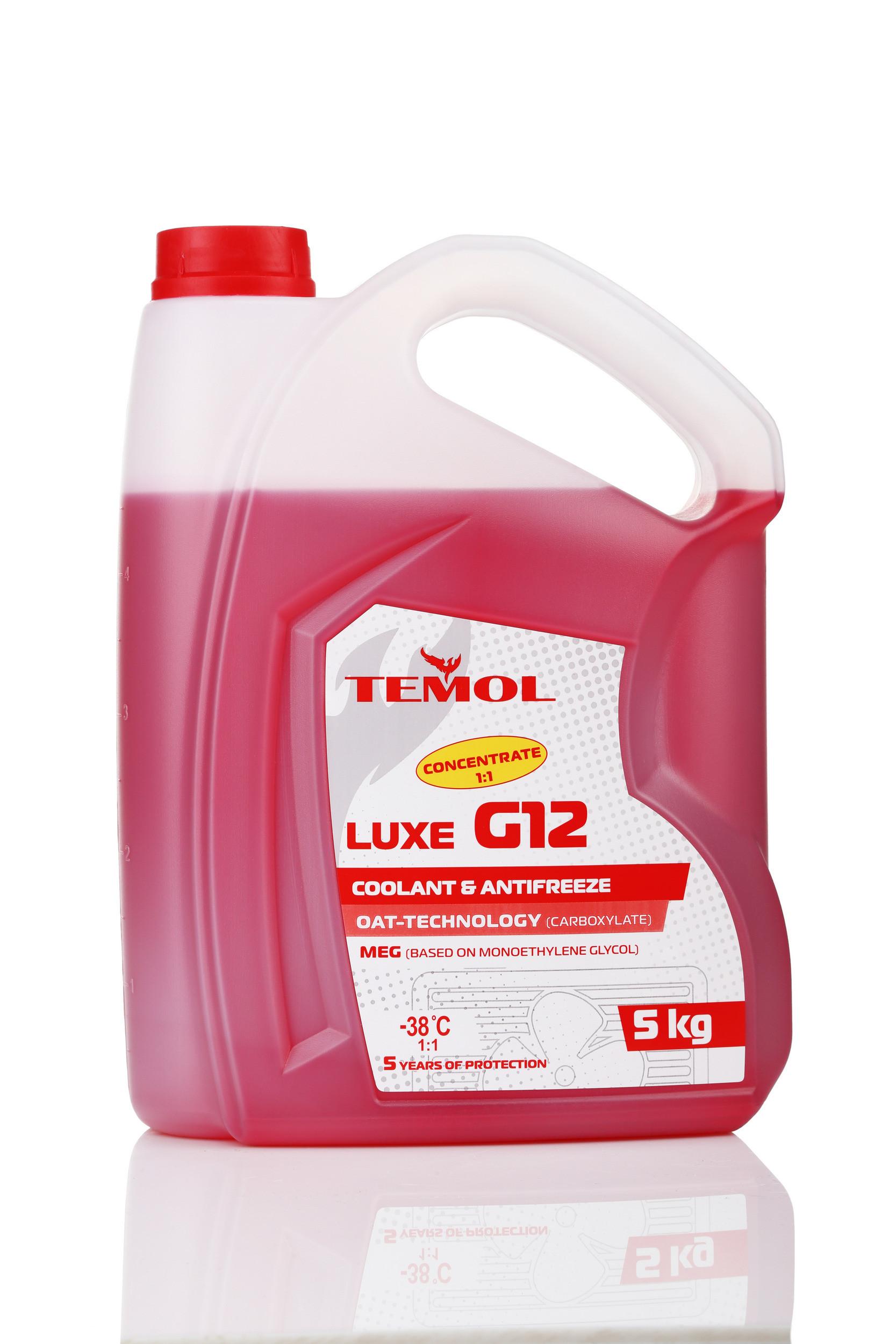 TEMOL ANTIFREEZE LUXE CONCENTRATE G12 RED - 5L - Temol, официальный интернет-магазин