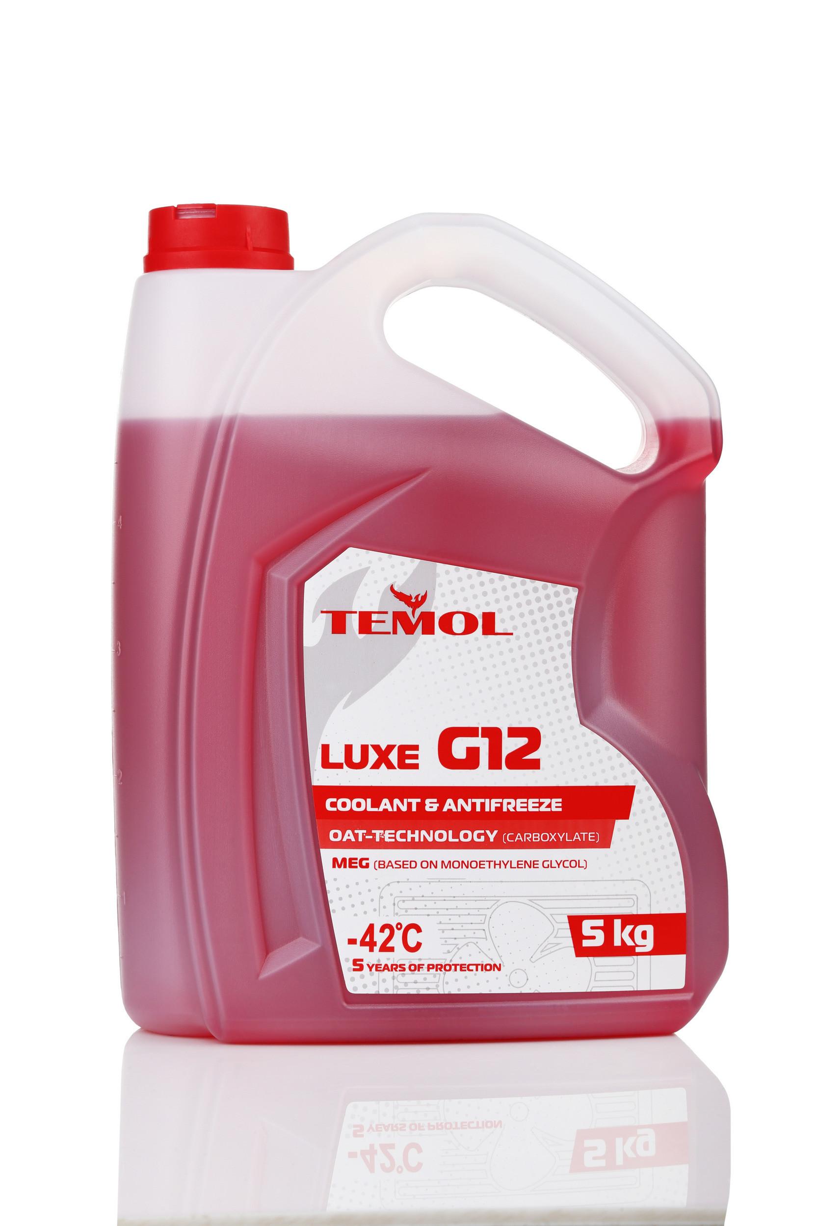 TEMOL ANTIFREEZE LUXE G12 RED - 5L - Temol, официальный интернет-магазин