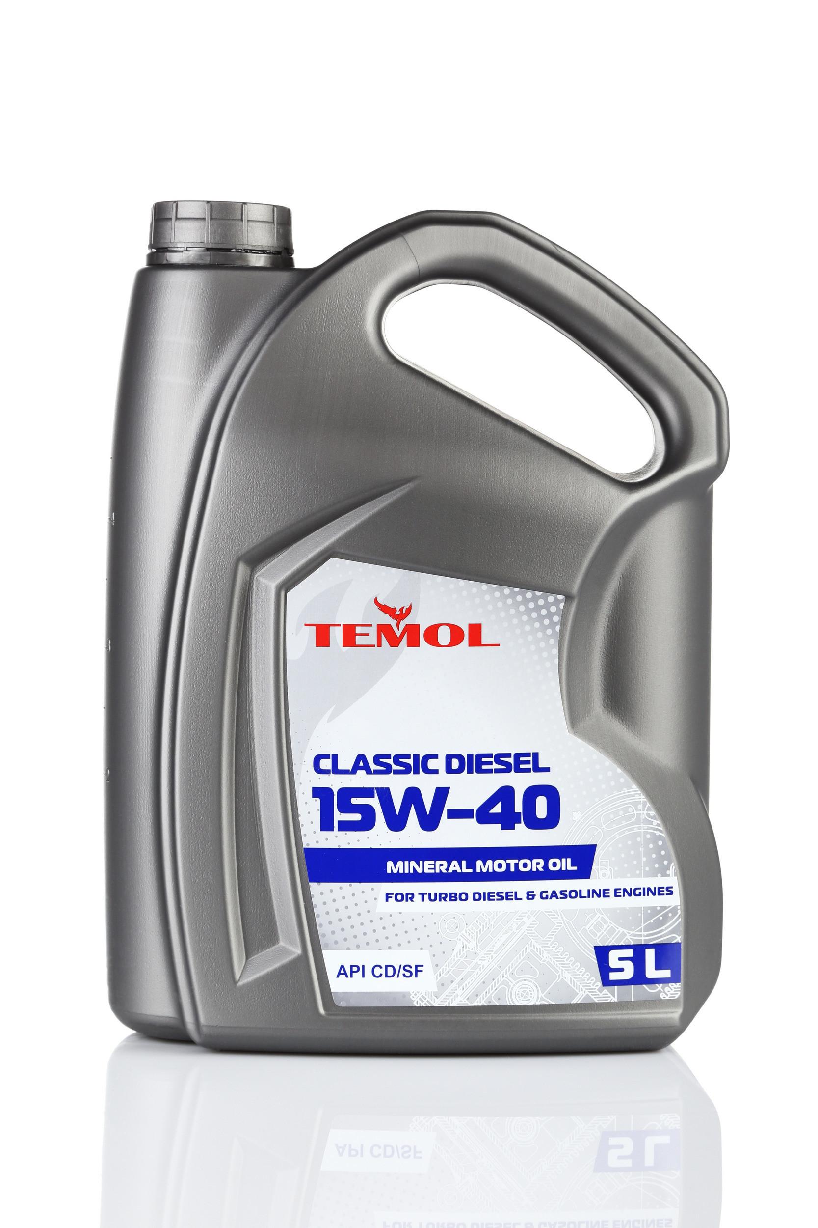 TEMOL CLASSIC DIESEL 15W-40 - 5L - Temol, официальный интернет-магазин