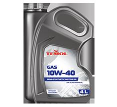 TEMOL GAS 10W-40 - 4L - Temol, официальный интернет-магазин