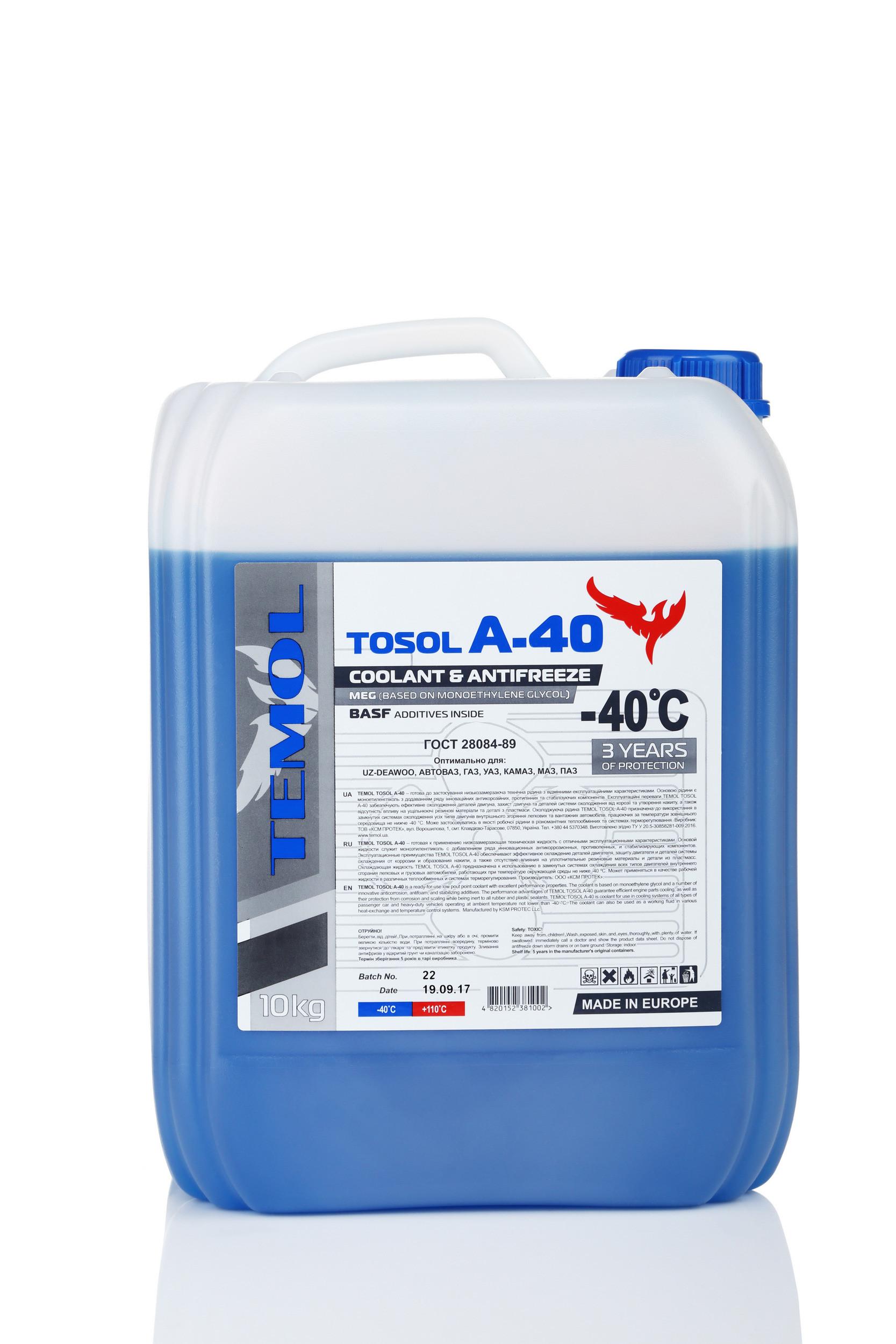 TEMOL TOSOL A-40 - 10L - Temol, официальный интернет-магазин